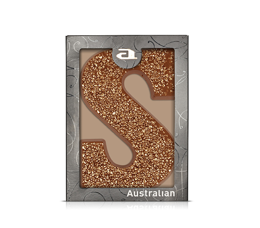 Chocolate letter rose gold milk S