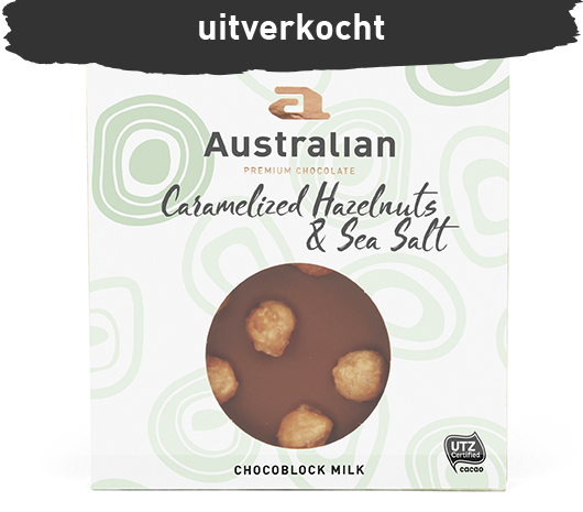 Chocoblock milk caramel hazelnut & sea salt UTZ