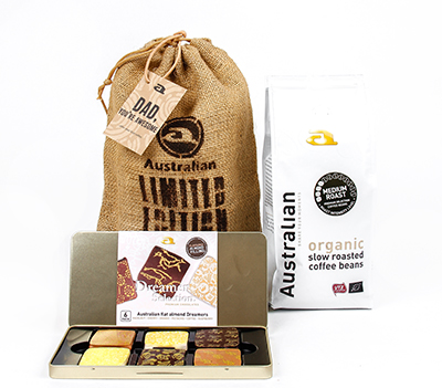 Giftset 'you are gold' coffee beans and chocolates